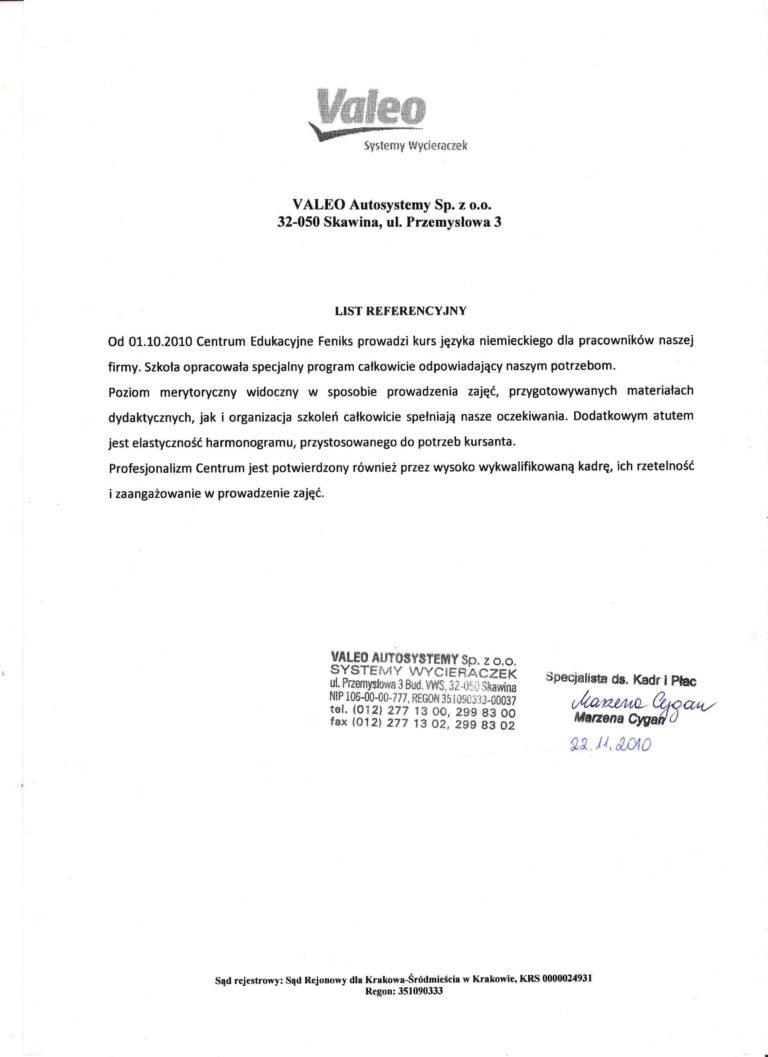 ValeoWycieraczkiNiem referencja